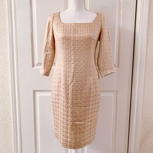 Vintage Cream Linda Cunningham Couture Dress